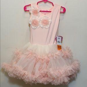 Popatu | Blush Dress with Tutu Skirt